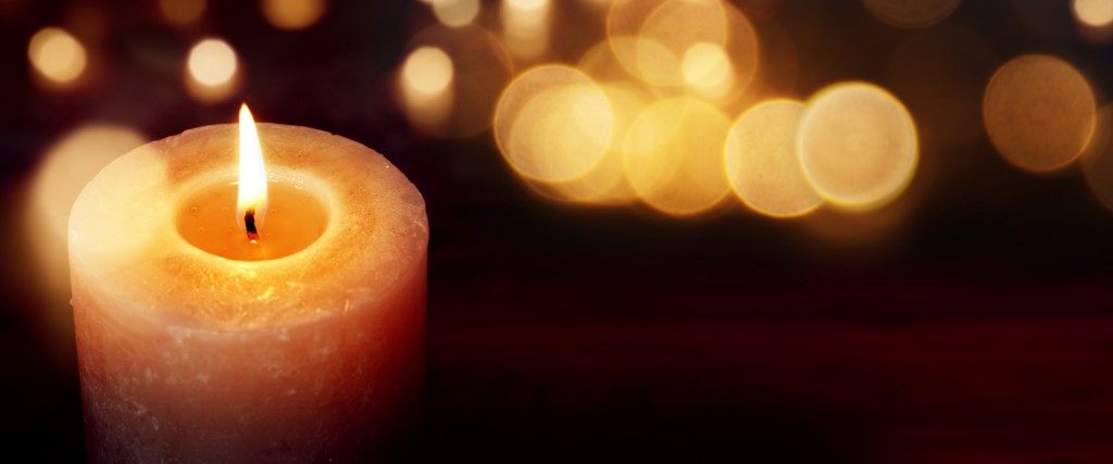 Candles with golden lights